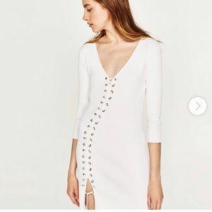 Zara Knit Lace Up Dress